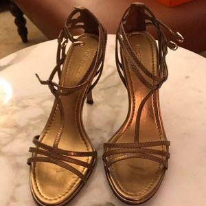 Bronze Embossed Sandals